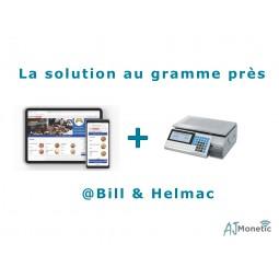 Balance Helmac compatible avec la caisse sur tablette @Bill