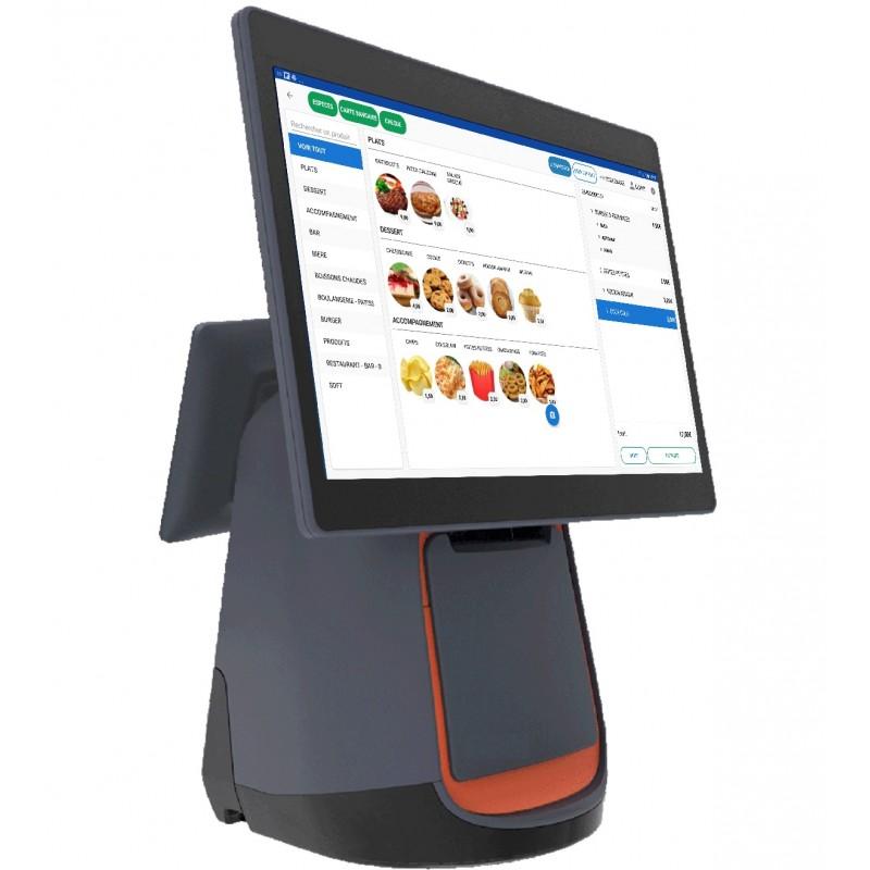 Caisse enregistreuse tactile avec afficheur client