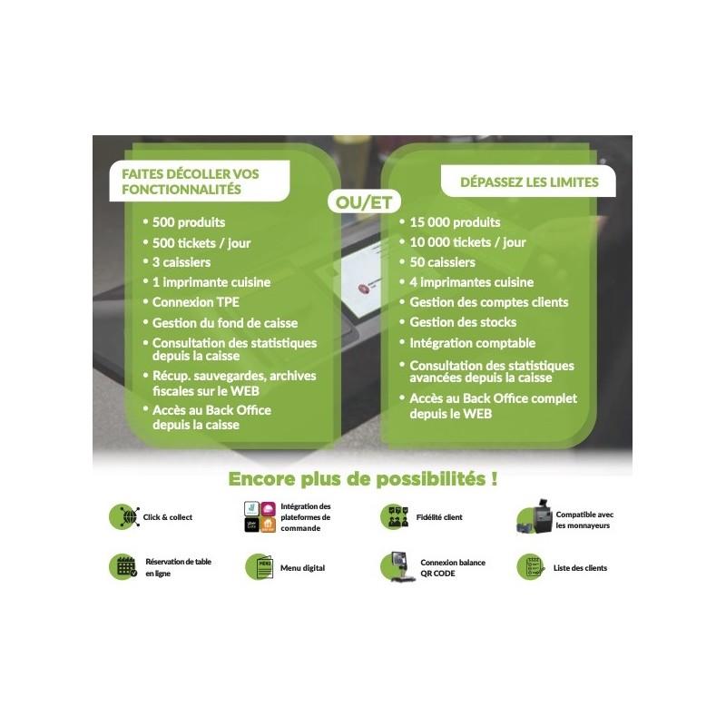 Extensions possibles sur la caisse FP 1080 avec l'utilisation de Commercill
