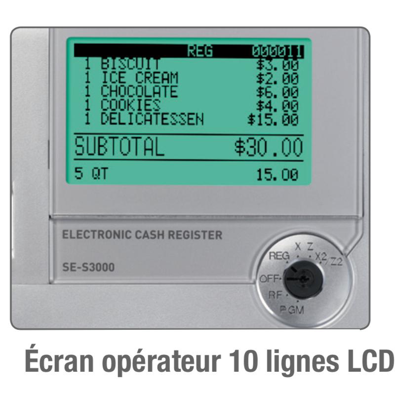 Caisse SES400 écran LCD 10 lignes en vente en ligne ici